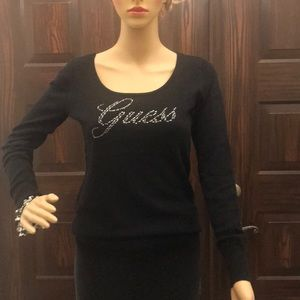 Guess open back sweater size M